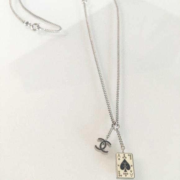 Chanel jewelry ace of spades necklace poshmark chanel ace of spades necklace aloadofball Image collections